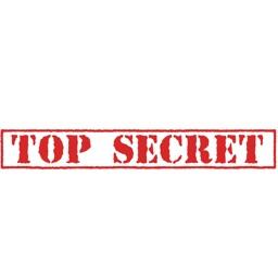 Top Secret Classification Stickers