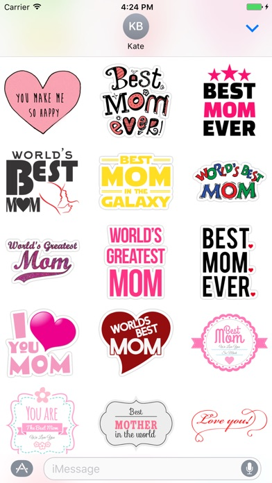 I Love My Mom Stickers For Imessage App Price Drops