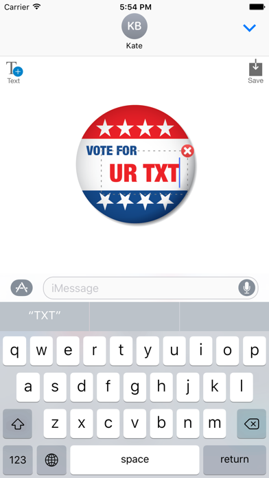 Election 2016 - MYOSE: Make Your Own Sticker Emoji screenshot two
