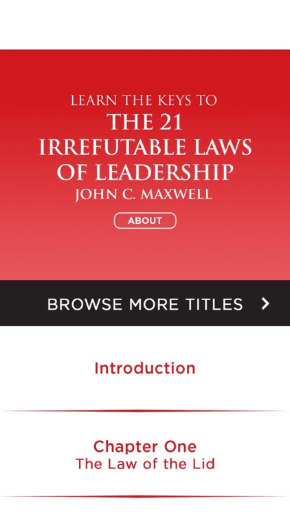 The 21 Irrefutable Laws Of Leadership Meditation