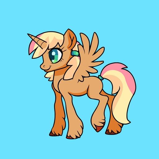 Unicorn Pegasus Pony Stickers