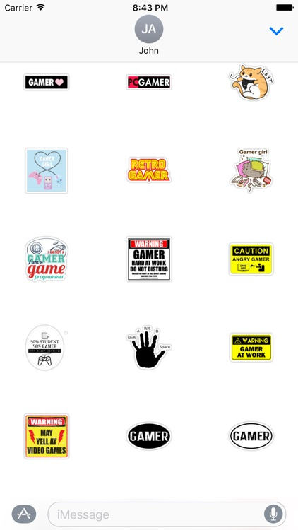 Gamer Stickers for Game Fans