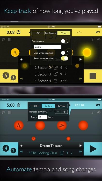 Tempo Advance - Metronome Polyrhythms and Setlists