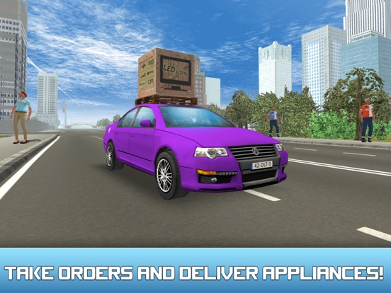 City Car Delivery Boy Simulator 3D-ipad-1