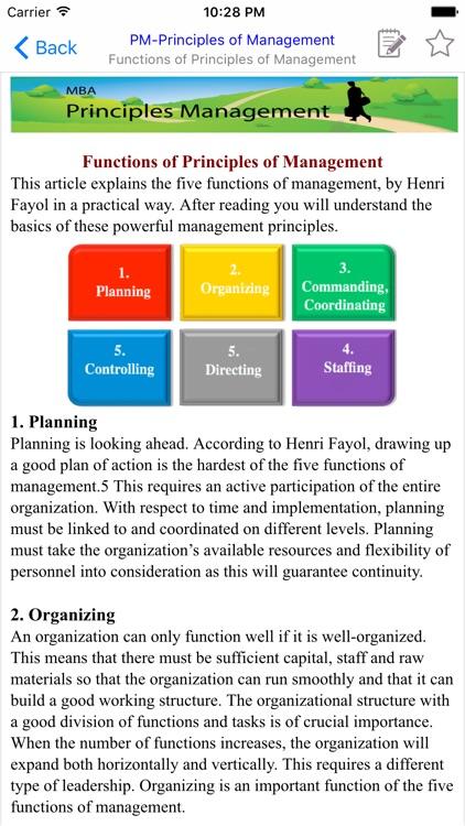 MBA Principles Management screenshot-3