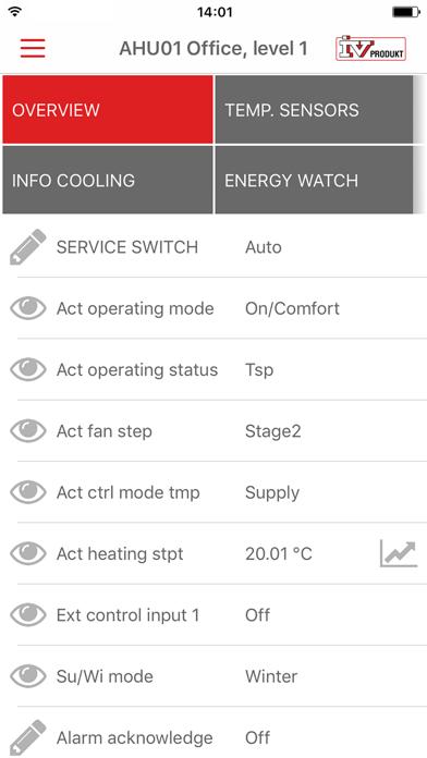 IV Produkt AHU Controls screenshot four