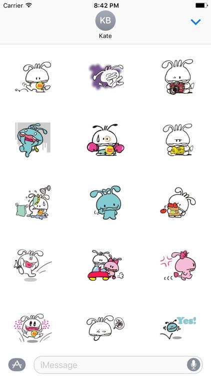 Shiro The Rabbit - Thanksgiving day stickers pack screenshot-3