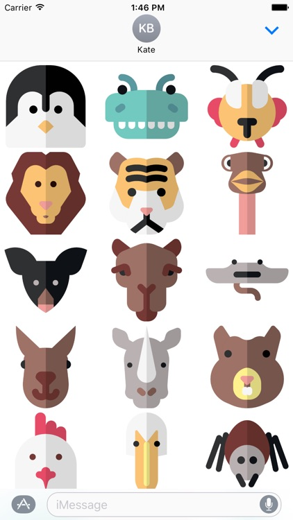 Animal Stickers and Emoji - Cute Pets screenshot-1