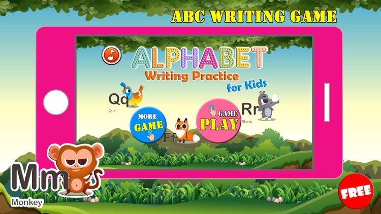 ABC Animals Writing Practice Letter Tracing Games