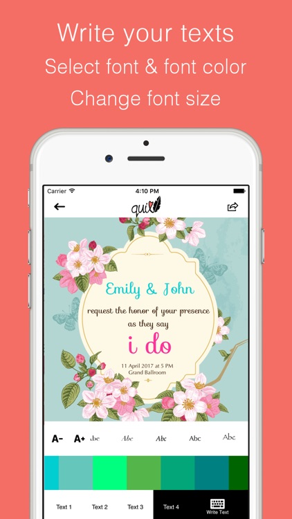 Wedding Invitation E Cards - Quill screenshot-2