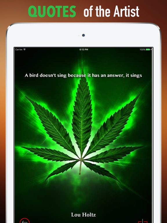 Screenshot 4 For 3D Weed Wallpapers HD Quotes