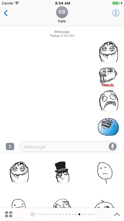 Meme - poker faces stickers pack screenshot-4