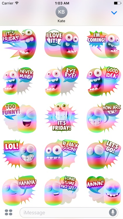 3D Spectrum Smileys screenshot-3