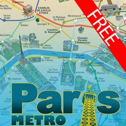 Paris Metro painted map - Free version