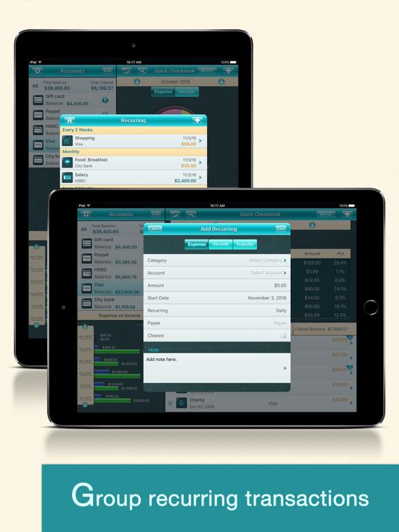 Quick Checkbook Pro for iPad screenshot three