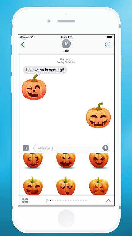 Halloween Pumpkin Smiley Sticker for iMessage