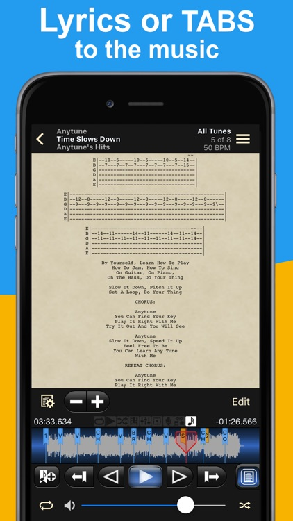 Anytune - Slow down music without changing pitch screenshot-3