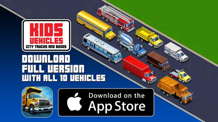 Kids Vehicles: City Trucks & Buses Lite for iPhone screenshot-4
