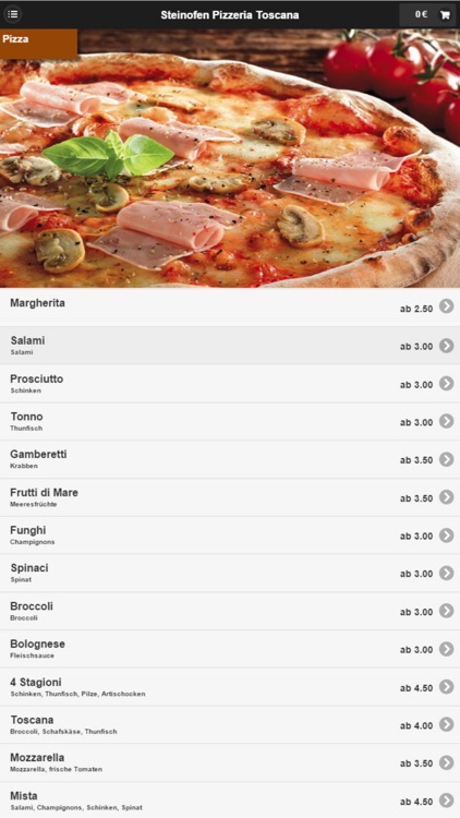 Pizzeria Toscana Langenfeld screenshot-1