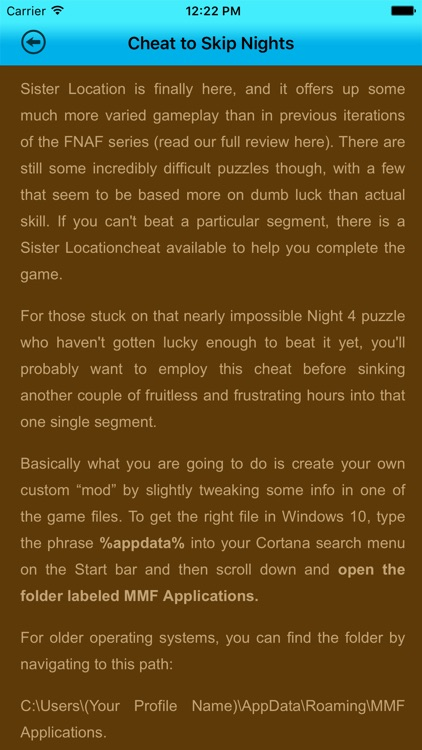 Guide+Cheats For FNAF Sister Locations screenshot-2