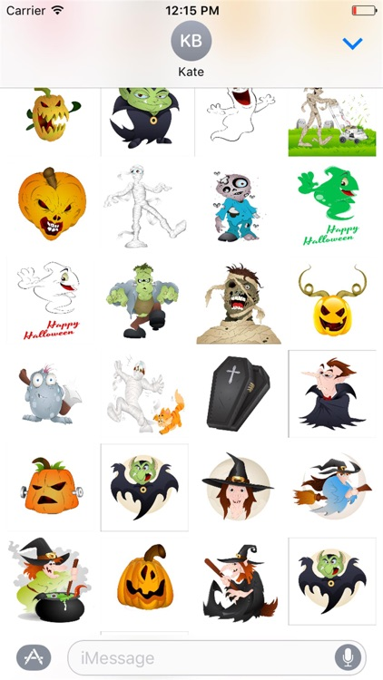 Halloween Stickers Scary Edition