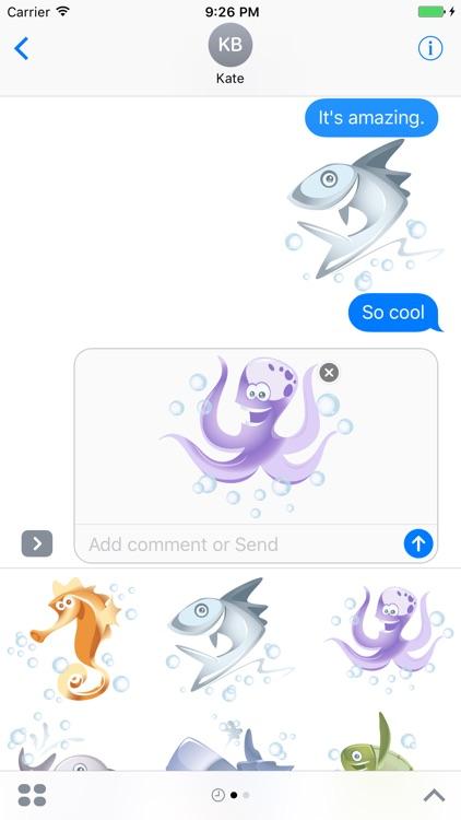 Sea Animals Sticker App