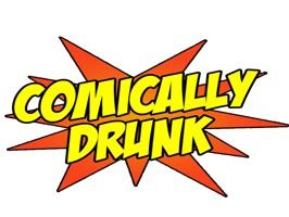 Use comic book themed stickers to express your state of inebriation