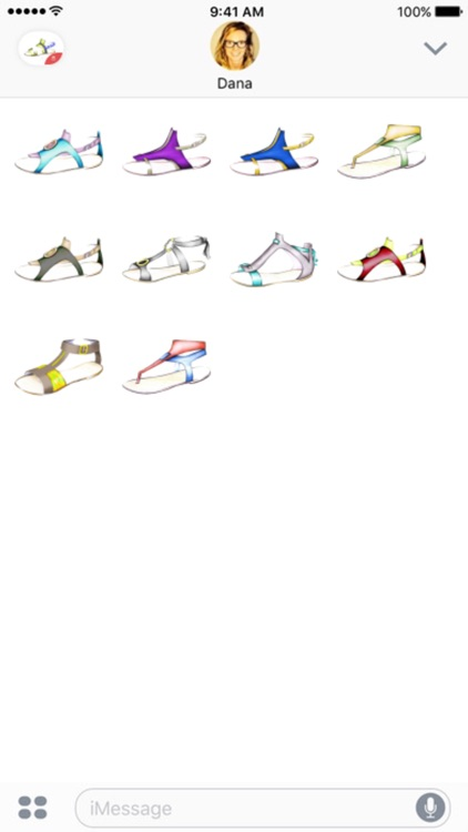 Female Shoes stickers by Weds for iMessage