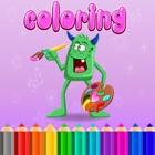Malbuch-Seiten Kinder lernen Farbe für Vorschule icon