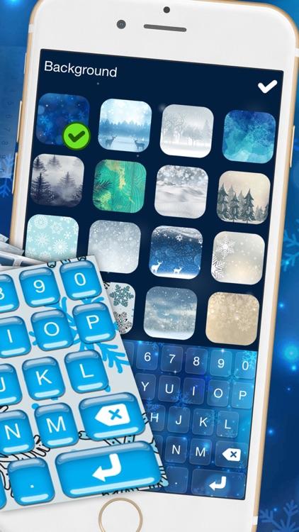 Winter Keyboard Theme – Frozen Skins, Emoji & Font