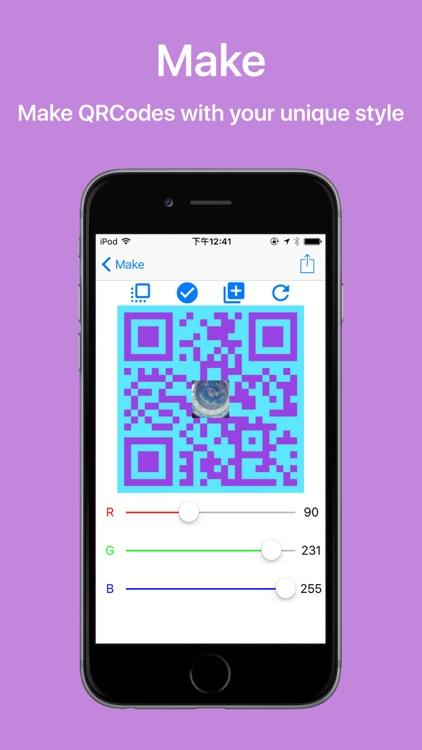 EasyQR - Efficient QR and barcode reader & maker screenshot-3