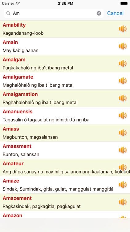 English Tagalog Dictionary Offline Free screenshot-4