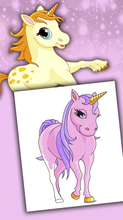 Unicorns coloring book for kids 2 to 6 years - Pro