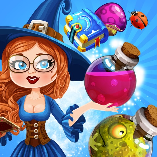 Witch Jewel Mania : Magic Match-3 Puzzle Adventure