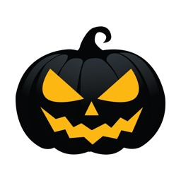Black Pumpkin Halloween Sticker for iMessage