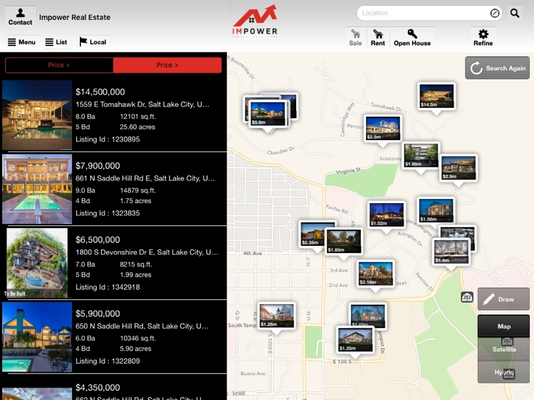 IMPOWER Real Estate for iPad