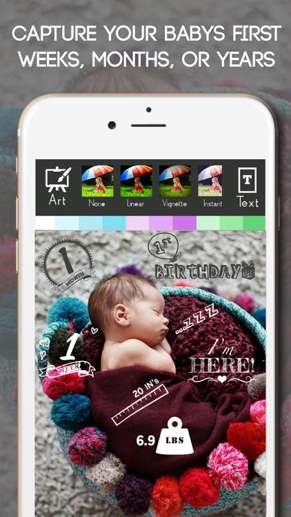 Baby Milestone Free Sticker Maker Pregnancy Editor screenshot-3