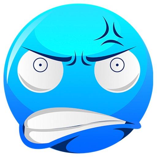 crazy blue emojis by nosakhare ogbebor