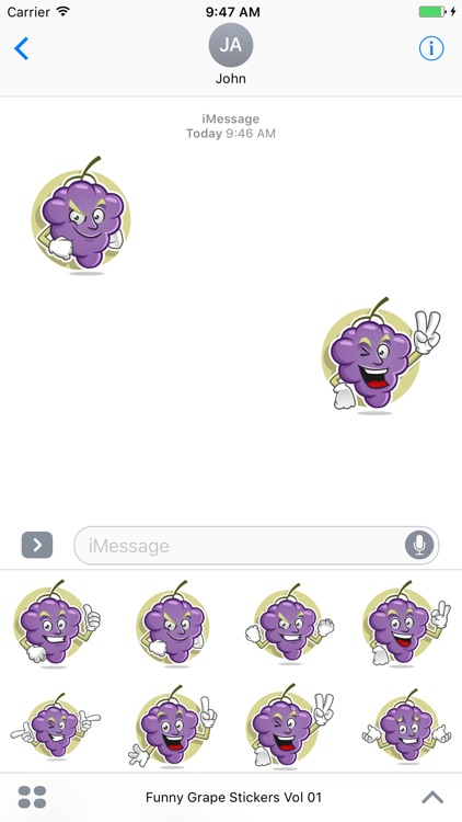 Funny Grape Stickers Vol 01
