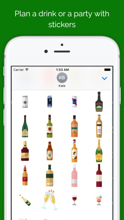 Beer Bottle Stickers for iMessage - emoji