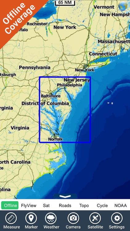 Virginia to New Jersey HD - GPS Chart Navigator screenshot-4