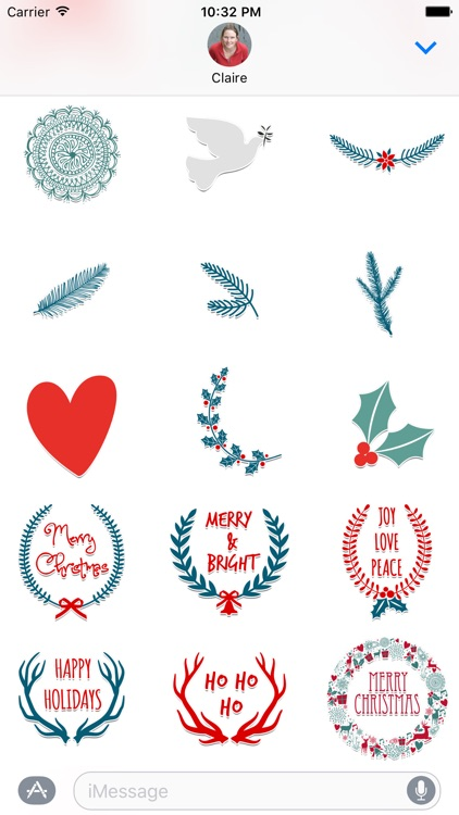 Christmas Stickers for iMessage screenshot-3