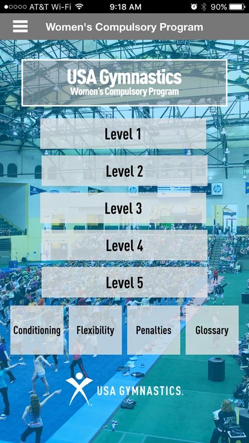 USA Gymnastics Women's Compulsory Program App 截图