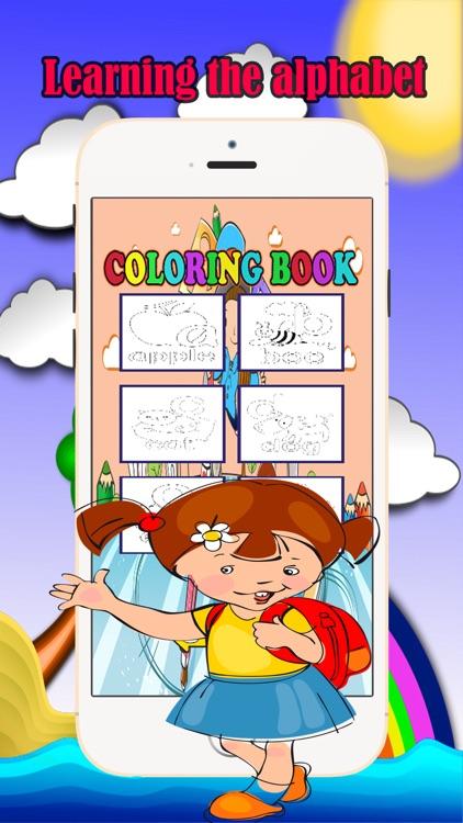 English Alphabet Coloring Book Fun Games For Kids screenshot-3