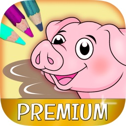 Color Farm Animals Coloring book - Premium