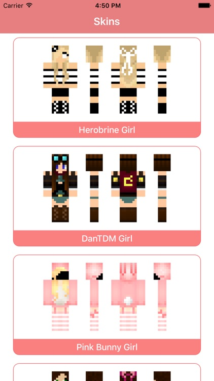 Girl Skins for MCPE - Skin Parlor for Minecraft PE