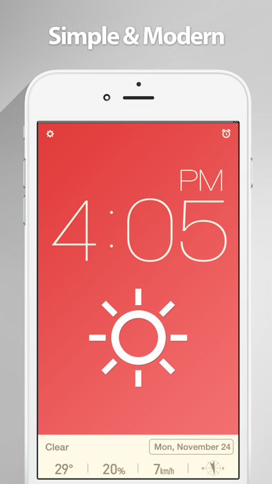 Screenshot #1 pour Red Clock.