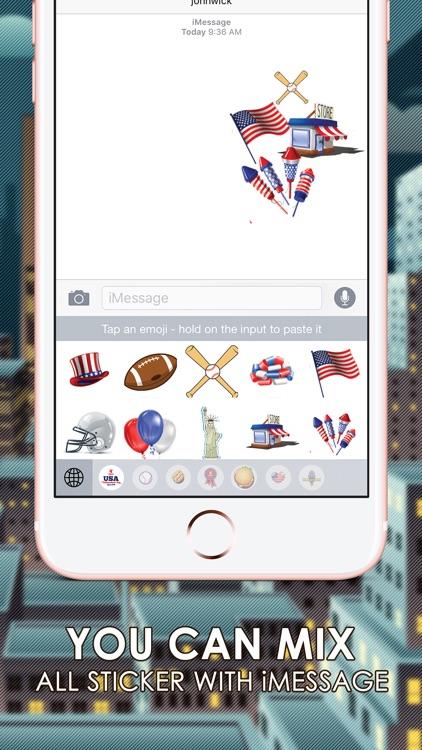 America Emoji Stickers Keyboard Themes ChatStick