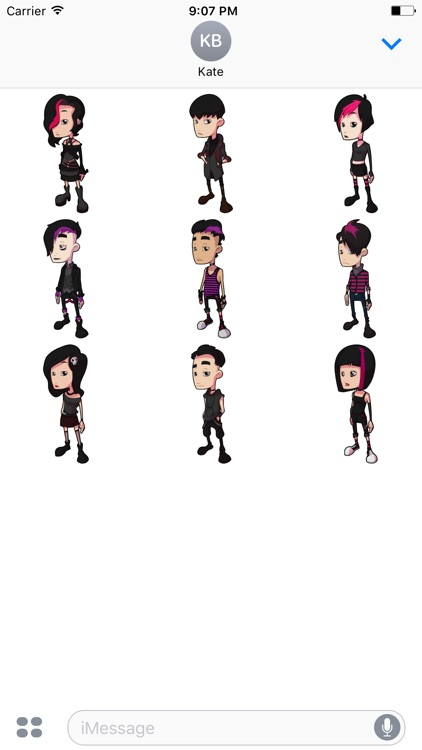 Goth Stickers - People & Kids