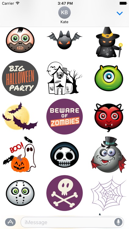 Halloween Stickers and Emoticons